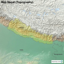Map Nepal (Topography)