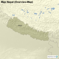 Map Nepal (Overview-Map)