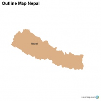 Outline Map Nepal