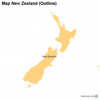 Map New Zealand (Outline)
