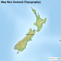 Map New Zealand (Topography)