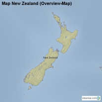 Map New Zealand (Overview-Map)