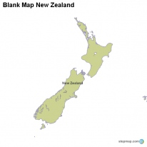 Blank Map New Zealand