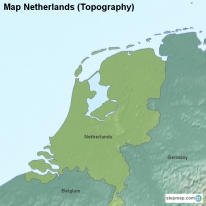 Map Netherlands (Topography)