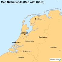 Map Netherlands (Map with Cities)