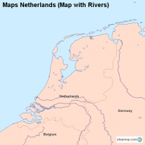 Maps Netherlands (Map with Rivers)