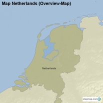 Map Netherlands (Overview-Map)