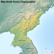 Map North Korea (Topography)