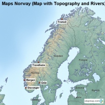StepMap Maps For Norway - Norway map rivers