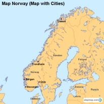 StepMap Maps For Norway - Norway map cities