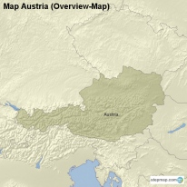 Map Austria (Overview-Map)