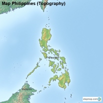 Map Philippines (Topography)