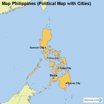 Map Philippines (Political Map with Cities)
