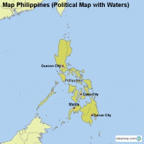 Map Philippines (Political Map with Waters)