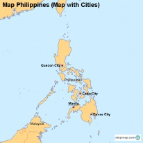 Map Philippines (Map with Cities)