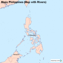 Maps Philippines (Map with Rivers)
