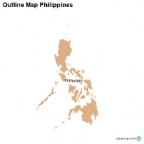 Outline Map Philippines