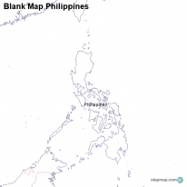 Blank Map Philippines