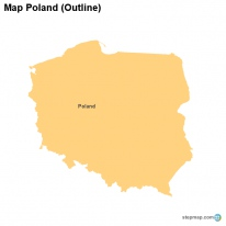 Map Poland (Outline)