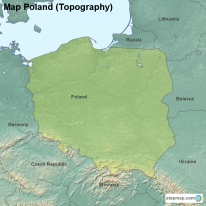 Map Poland (Topography)