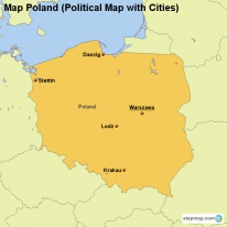 Map Poland (Political Map with Cities)