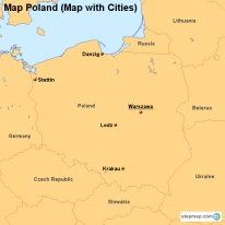 Map Poland (Map with Cities)