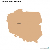Outline Map Poland