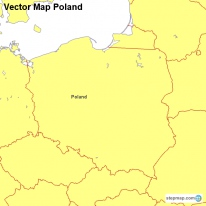 Vector Map Poland