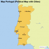 StepMap Maps For Portugal - Portugal map major cities