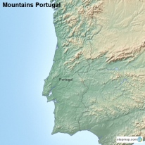 StepMap Maps For Portugal - Portugal map mountains