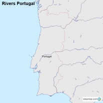 StepMap Maps For Portugal - Portugal map rivers