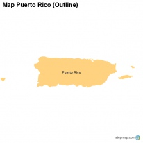 Map Puerto Rico (Outline)