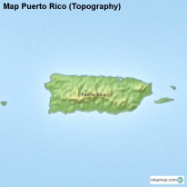 Map Puerto Rico (Topography)