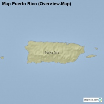 Map Puerto Rico (Overview-Map)