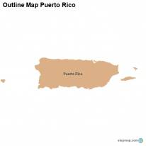 Outline Map Puerto Rico