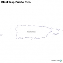 StepMap Maps For Puerto Rico - Political map of puerto rico