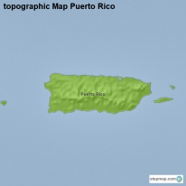 topographic Map Puerto Rico