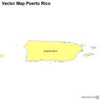 Vector Map Puerto Rico