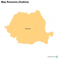 Map Romania (Outline)