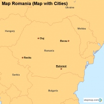 Map Romania (Map with Cities)