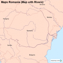 Maps Romania (Map with Rivers)