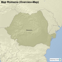 Map Romania (Overview-Map)