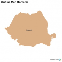 Outline Map Romania
