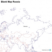 StepMap Maps For Russia - Blank map of russia
