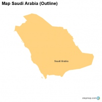 Map Saudi Arabia (Outline)