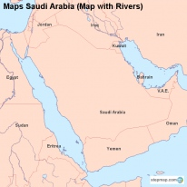 Maps Saudi Arabia (Map with Rivers)