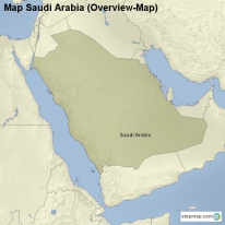 Map Saudi Arabia (Overview-Map)