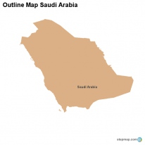 Outline Map Saudi Arabia