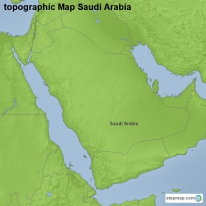 topographic Map Saudi Arabia