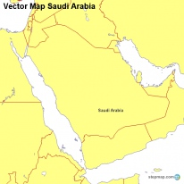 Vector Map Saudi Arabia